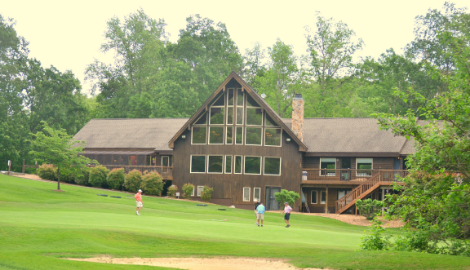 View of the clubhouse